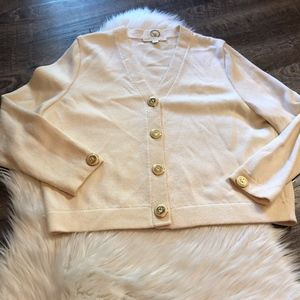 St. John Basics Cream Cardigan